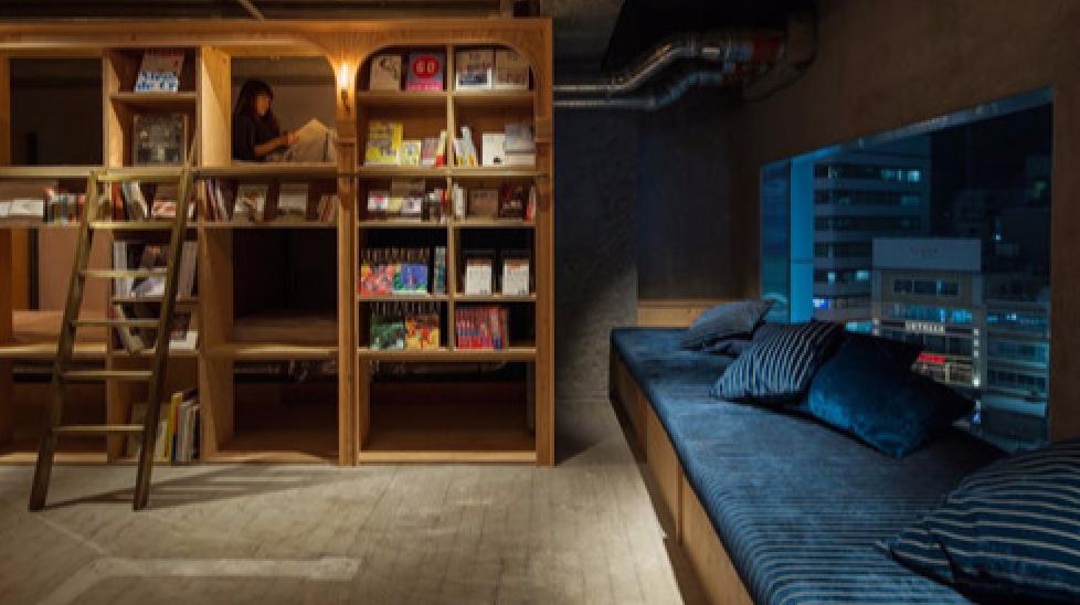 """Khách sạn con nhộng dành cho các """"mọt sách"""""""