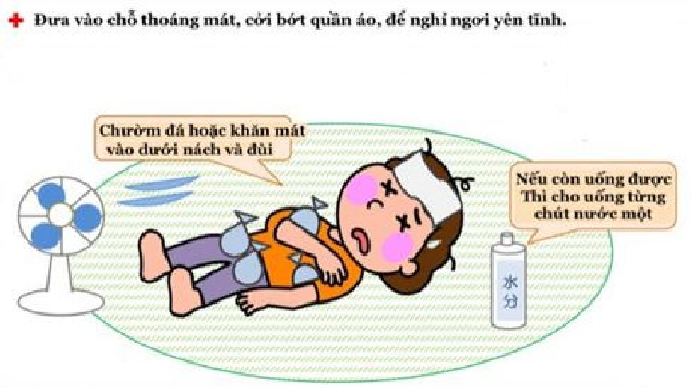 Cách xử trí khi trẻ bị say nắng