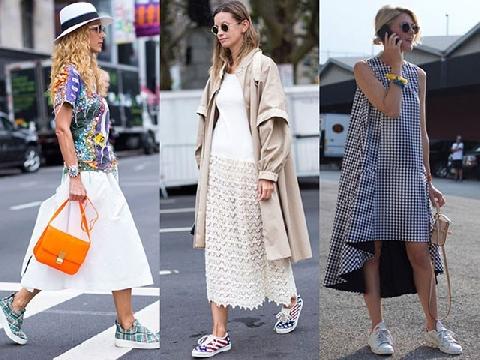 Phong cách kết hợp giày sneaker ''thô kệch'' cực chất