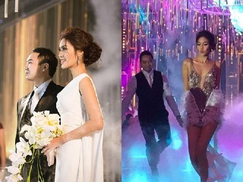 Lộ khoảnh khắc Lan Khuê nhảy sexy bên chồng trong đám cưới bạc tỷ