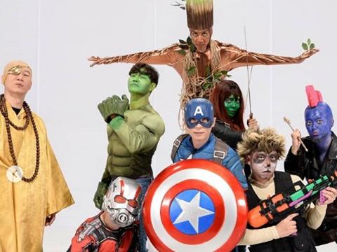 Dàn cast Running man hoá thân thành siêu anh hùng Marvel lỗi toàn tập