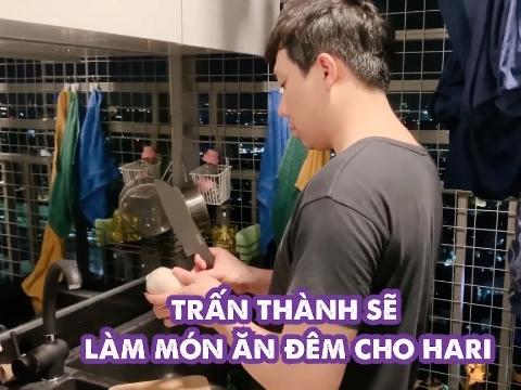 Trổ tài nấu mì cho Hari Won, Trấn Thành thu về cả triệu view!