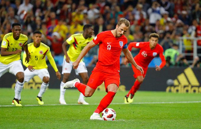 Harry Kane mở tỷ số cho tuyển Anh. Ảnh: AP.