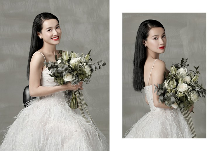 Ơn giời, cuối cùng váy cưới tôn dáng từng cen-ti-met của Nhã Phương đã chịu lộ diện!