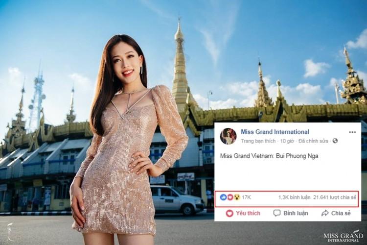 Bức ảnh với thần thái rạng rỡ này của Phương Nga thu hút gần 22 nghìn lượt share và 17 nghìn lượt like sau 10 giờ đăng tải.