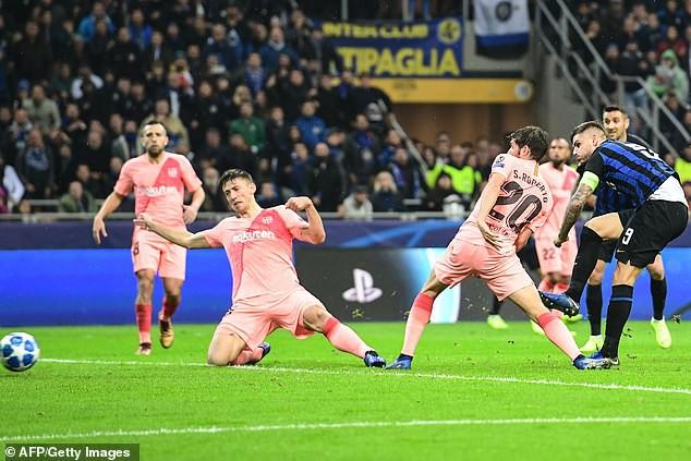 Icardi ấn định kết quả hòa 1-1 cho Inter Milan ở phút 87