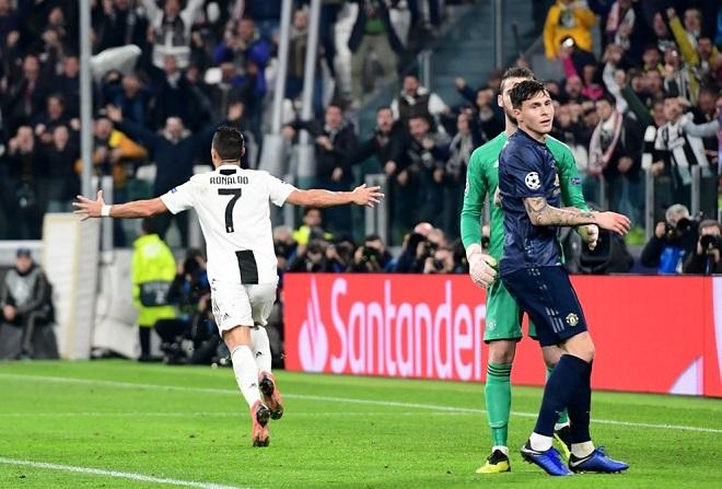 Ronaldo mở tỉ số trận đấu từ một pha thoát xuống rất nhanh.