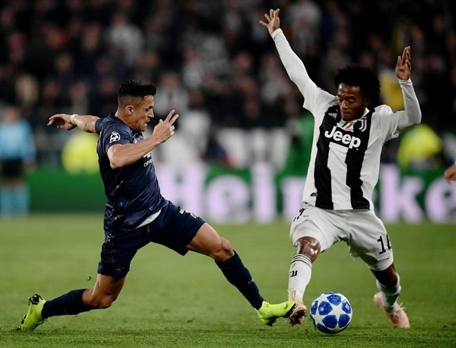 Juventus áp đảo hoàn toàn suốt hiệp 1.