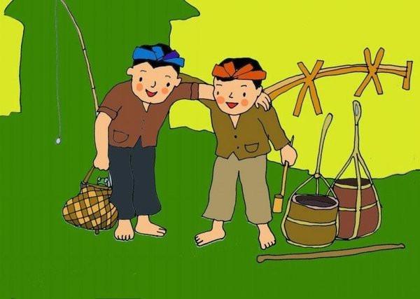 Câu chuyện dân gian về anh bán ếch và anh bán dầu được cho là nguồn gốc của bài hát Bắc kim thang.