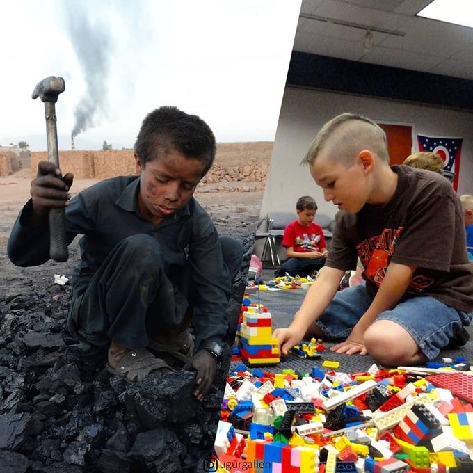 <p>  Ai đó có thể buồn vì đồ chơi nhàm chán, nhưng ở ngoài kia, có những đứa trẻ đang phải làm việc để nuôi bản thân và gia đình của chúng.</p>