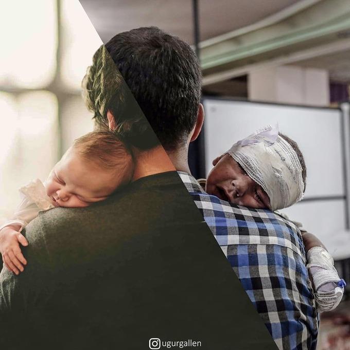 <p>  Đôi vai của bố chính là nơi bình yên nhất mà hai đứa trẻ với hai số phận có thể dựa vào...</p>