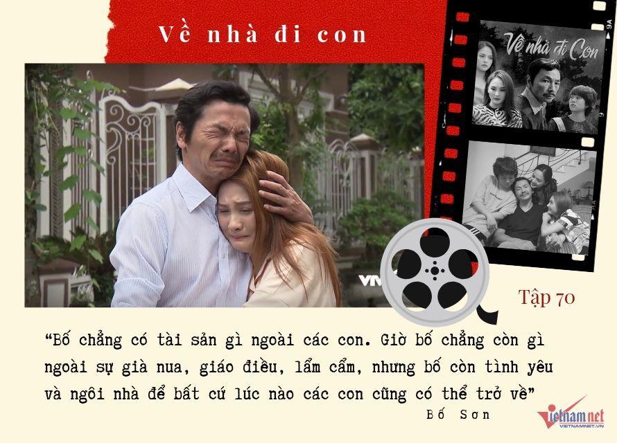 Những câu thoại gây xúc động mạnh của ông Sơn trong 'Về nhà đi con'