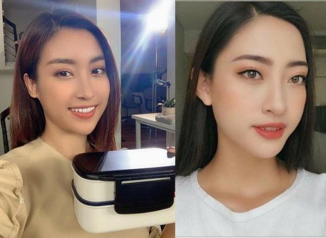So nhan sắc mặt mộc của Hoa hậu Đỗ Mỹ Linh và Lương Thuỳ Linh - 10