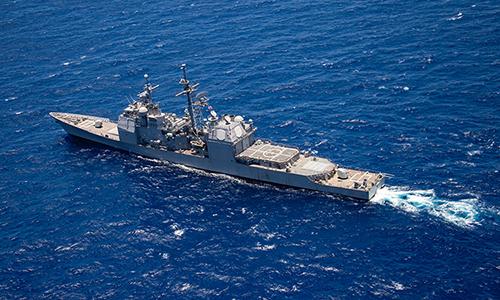 Tuần dương hạm USS Lake Erie (CG-70) trong tập trận RIMPAC tháng 7/2018. Ảnh: US Navy.