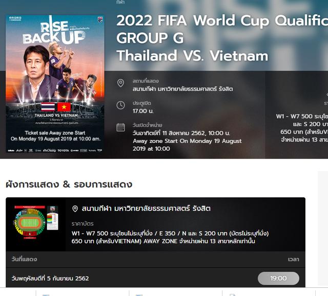 Hôm nay, chủ nhà Thái Lan mở bán vé cho CĐV Việt Nam - 1