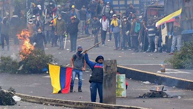 Ecuador: Hang nghin nguoi tham gia tong dinh cong phan doi chinh phu hinh anh 1
